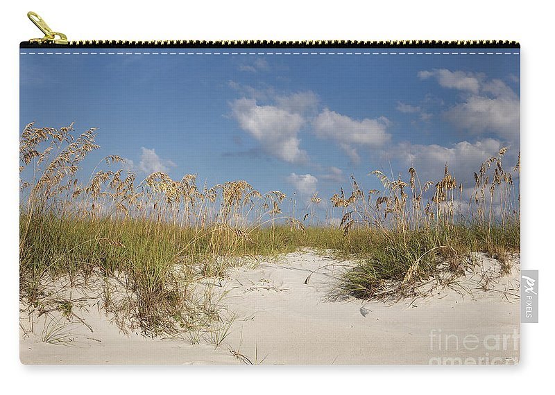 Beach Carry-all Pouch featuring the photograph Summer Sea Oats by Maria Struss
