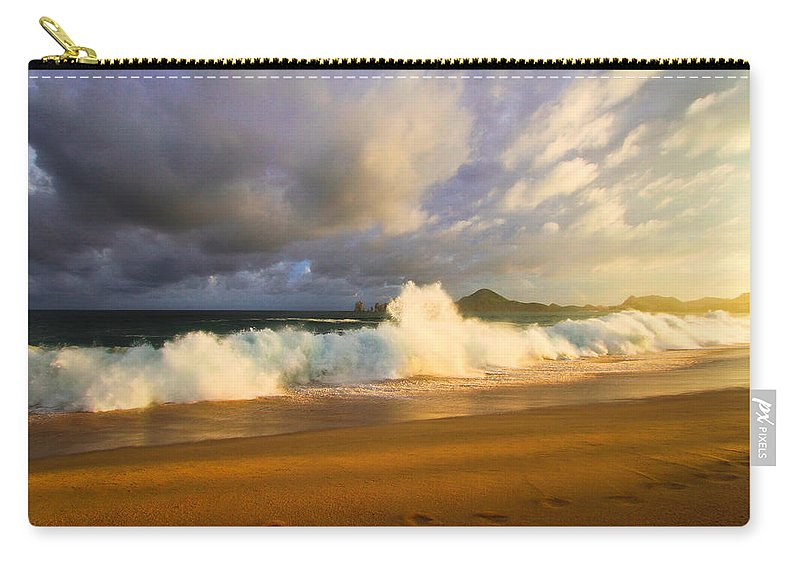 Waves Carry-all Pouch featuring the photograph Summer Storm by Eti Reid
