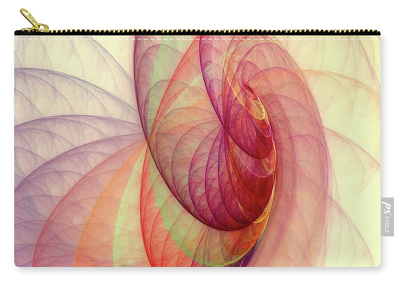 Fractal Carry-all Pouch featuring the digital art Summer Sun by Angela Stanton