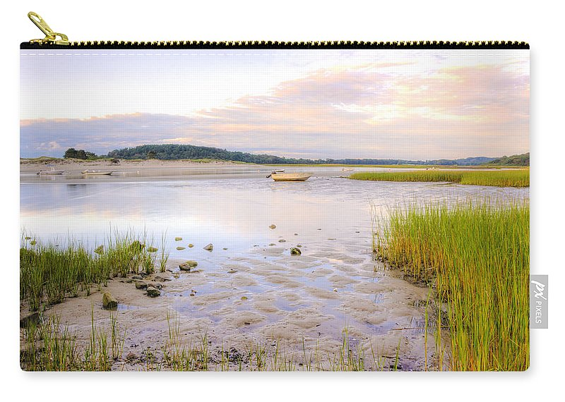 Sunrise Carry-all Pouch featuring the photograph Summer Sunrise At Little Neck by David Stone
