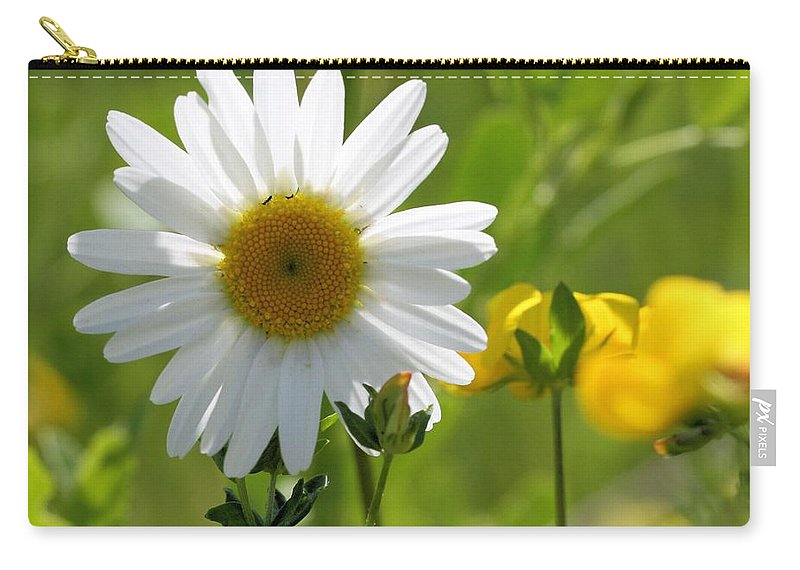 Summer Carry-all Pouch featuring the photograph Summer Sunshine On Wildflowers by Doris Potter