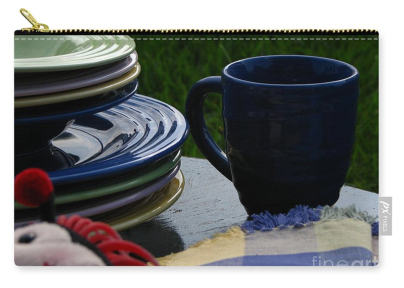 Art For The Wall Carry-all Pouch featuring the photograph Summer Table by Greg Patzer