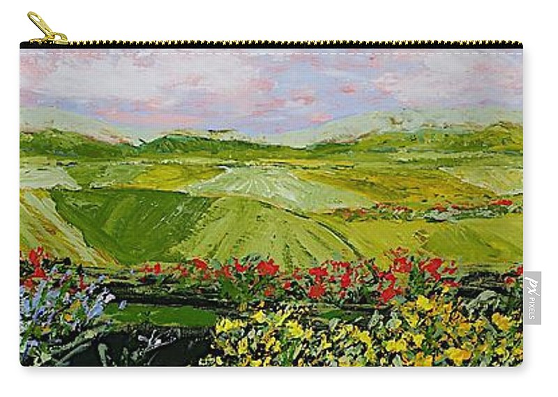 Landscape Carry-all Pouch featuring the painting Summer Valley by Allan P Friedlander