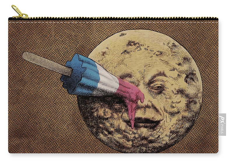 Moon Carry-all Pouch featuring the drawing Summer Voyage by Eric Fan