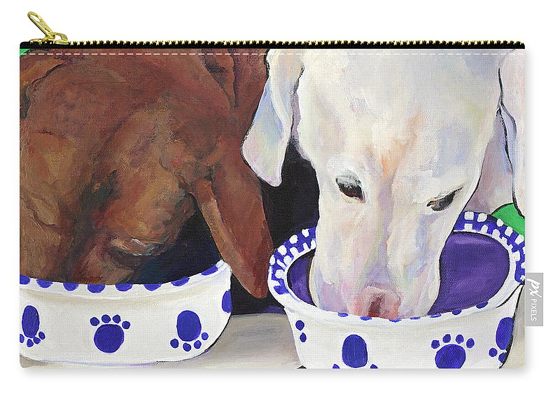 Pat Saunders-white Carry-all Pouch featuring the painting Summer Wag Ale by Pat Saunders-White