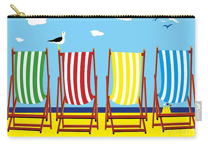 Seaside Carry-all Pouch featuring the painting Summers Comin by Neil Finnemore