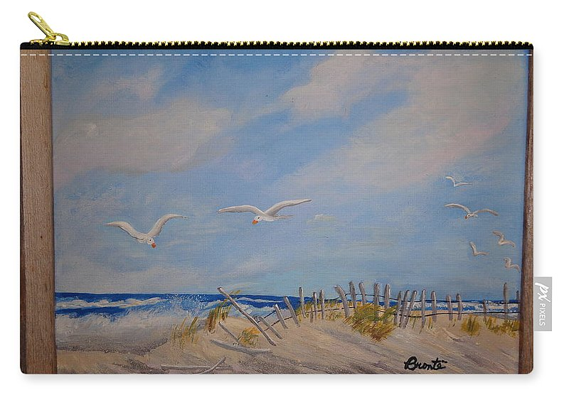 Seascape Carry-all Pouch featuring the painting 'summer's End' by Carol Lynn Bronte