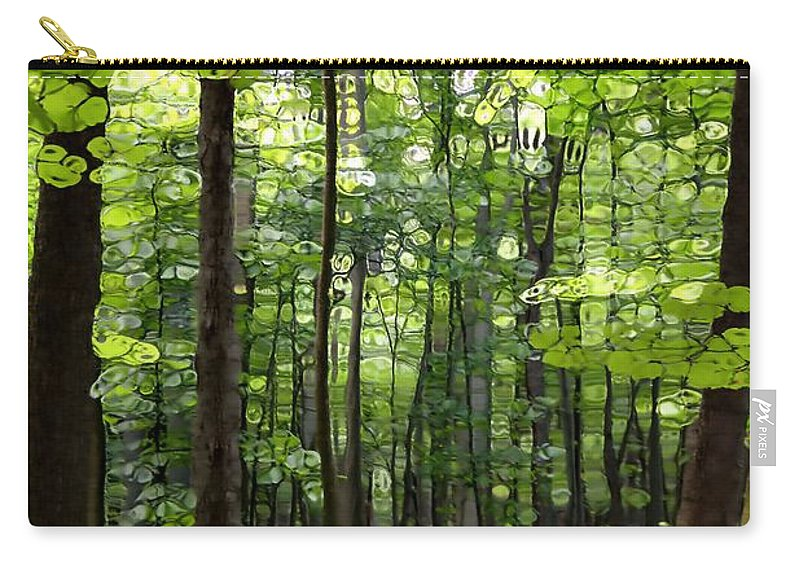 Summer's Green Forest Abstract Carry-all Pouch featuring the photograph Summer's Green Forest Abstract by Dan Sproul
