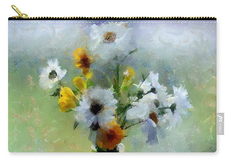 Flowers Carry-all Pouch featuring the painting Summerstorm Still Life by RC DeWinter