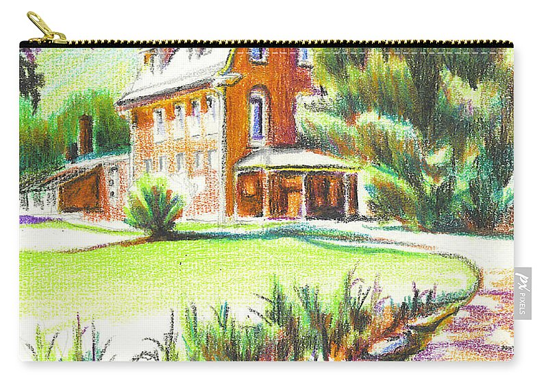 Summertime At Ursuline No C101 Carry-all Pouch featuring the painting Summertime At Ursuline No C101 by Kip DeVore