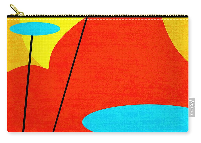 Summertime Blues Carry-all Pouch featuring the digital art Summertime Blues by Richard Rizzo