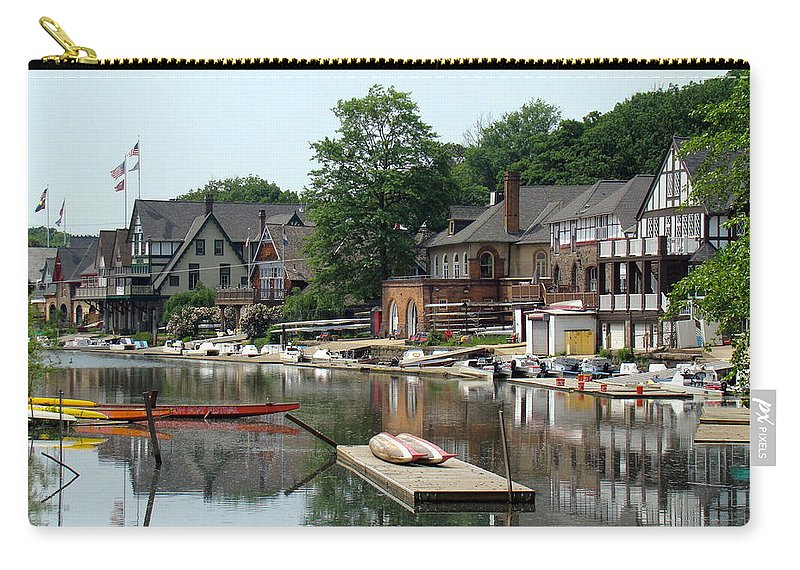 Boathouse Row Carry-all Pouch featuring the photograph Summertime On Boathouse Row by Alice Gipson