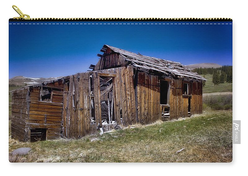 Summitville Carry-all Pouch featuring the photograph Summitville - Colorado Ghost Town by Ellen Heaverlo