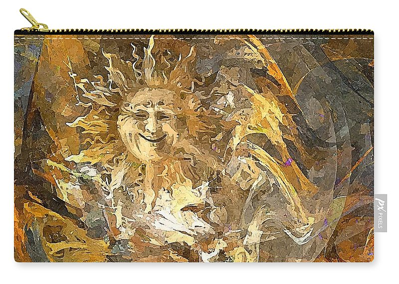 Graphics Carry-all Pouch featuring the digital art Sun 0396 - Marucii by Marek Lutek