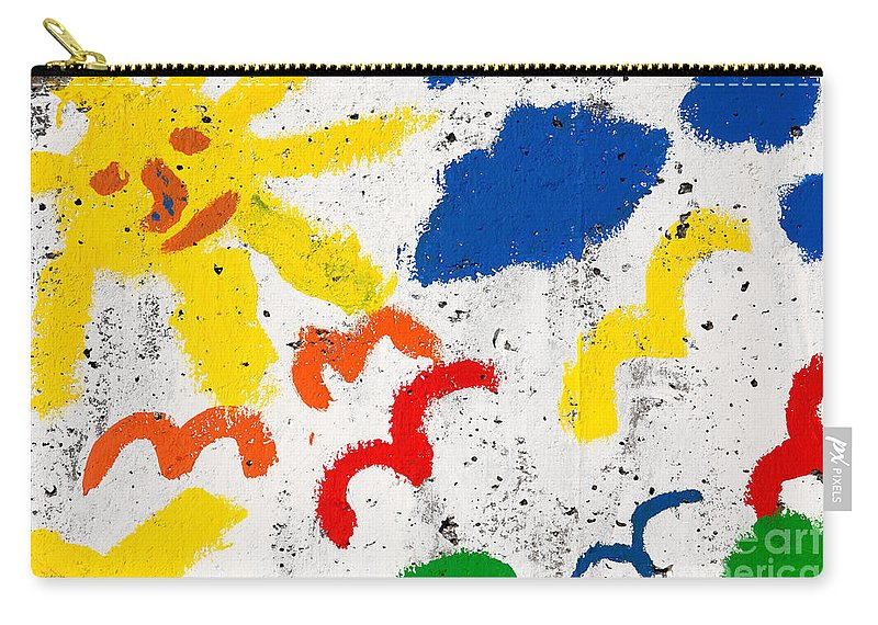 Sun Carry-all Pouch featuring the photograph Sun And Seagulls by Gaspar Avila