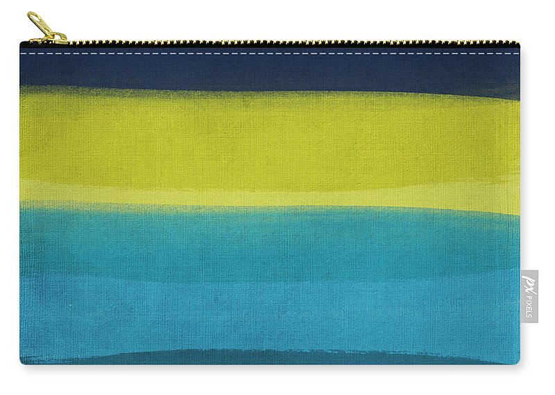 Abstract Carry-all Pouch featuring the painting Sun And Surf by Linda Woods