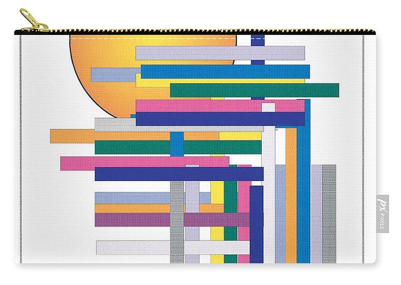 Contemporary Carry-all Pouch featuring the digital art Sun City by Bjorn Sjogren
