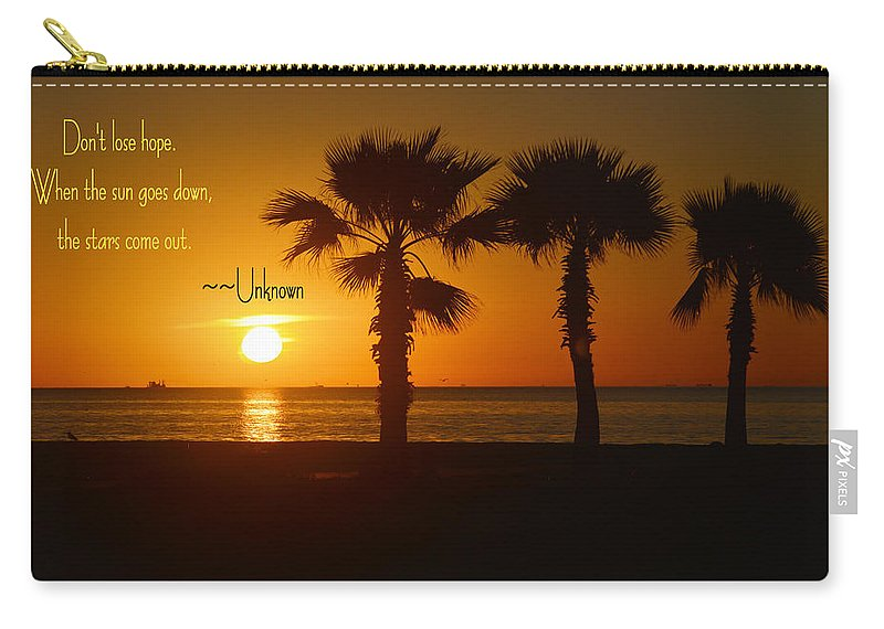 Down Carry-all Pouch featuring the photograph Sun Down Stars Up by Leticia Latocki