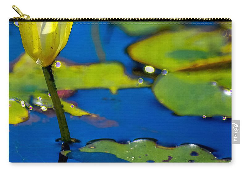Optical Playground By Mp Ray Carry-all Pouch featuring the photograph Sun Drenched Lilly by Optical Playground By MP Ray