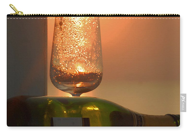 Sun Carry-all Pouch featuring the photograph Sun In Glass by Leticia Latocki