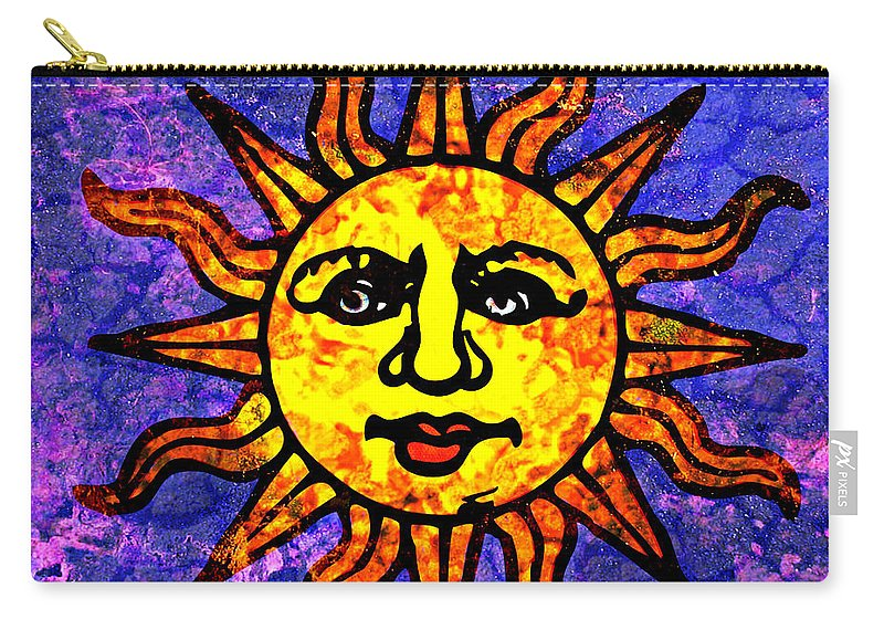 Sun Carry-all Pouch featuring the painting Sun Salutation by Ally White