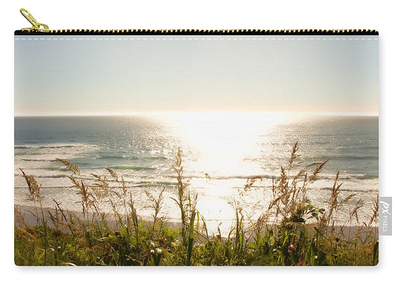Sun Star Carry-all Pouch featuring the photograph Sun Star At The Beach by Athena Mckinzie