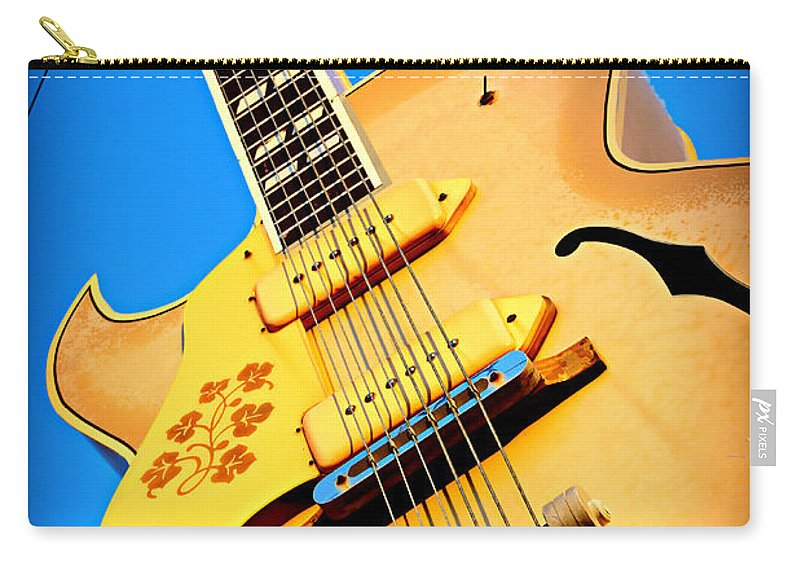 Sun Carry-all Pouch featuring the photograph Sun Studio Guitar by Stephen Stookey