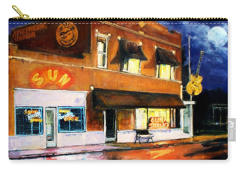 Robert Carry-all Pouch featuring the painting Sun Studio - Night by Robert Reeves