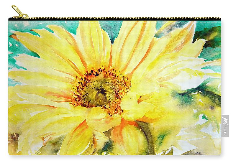 Yellow Carry-all Pouch featuring the painting Sun Worshipper by Ruth Harris