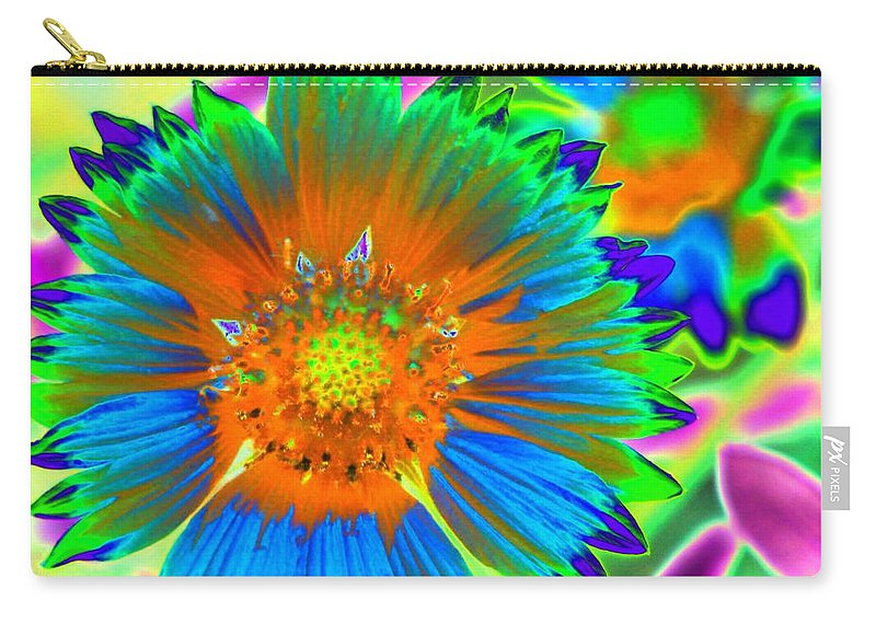 Flower Carry-all Pouch featuring the photograph Sunburst - Photopower 2241 by Pamela Critchlow