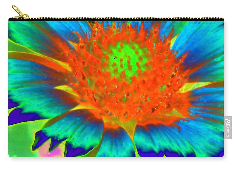 Flower Carry-all Pouch featuring the photograph Sunburst - Photopower 2244 by Pamela Critchlow