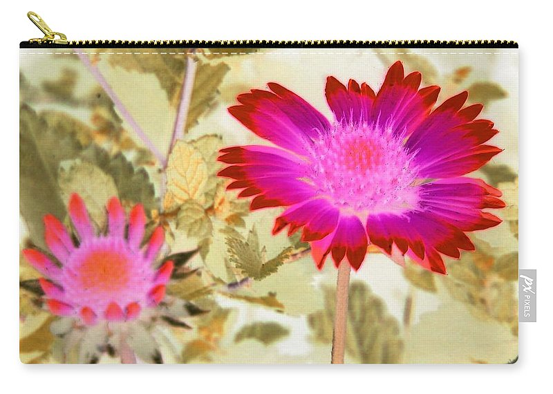 Flower Carry-all Pouch featuring the photograph Sunburst - Photopower 2251 by Pamela Critchlow