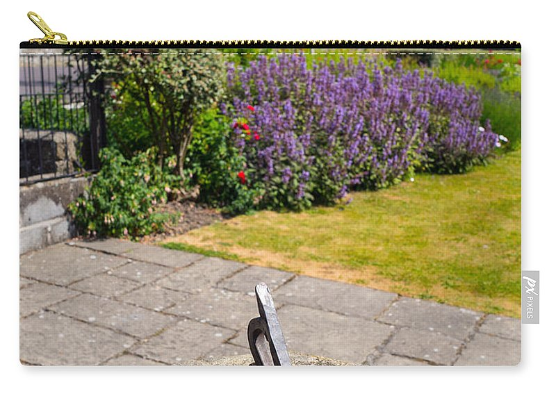Blue Carry-all Pouch featuring the photograph Sundial by Mark Llewellyn