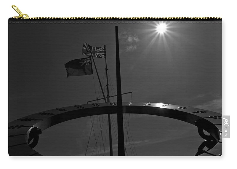 Sun Carry-all Pouch featuring the photograph Sundial Silhouette by David Pyatt