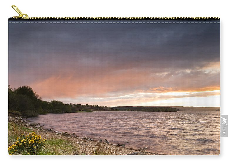 Northumberland Carry-all Pouch featuring the photograph Sundown At Kielder Reservoir by David Head