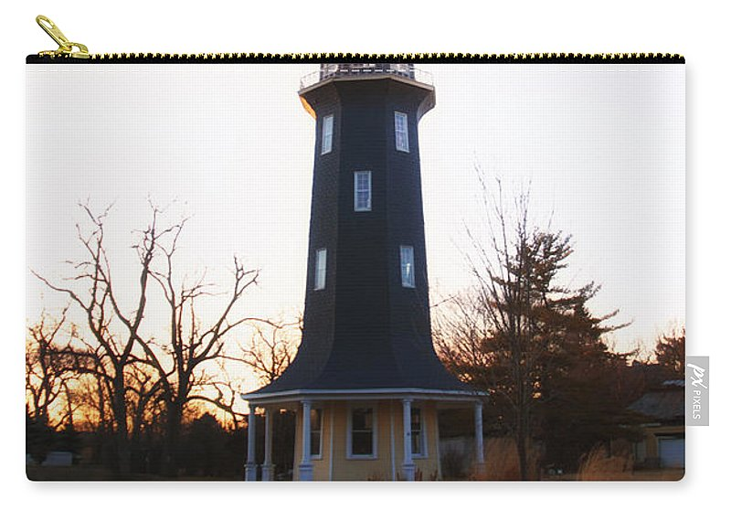 Windmill Carry-all Pouch featuring the photograph Sundown Dwight Windmill by Thomas Woolworth