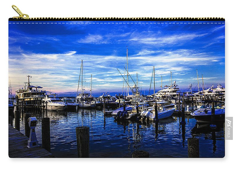 Boats Carry-all Pouch featuring the photograph Sundown In Sag Harbor by Madeline Ellis