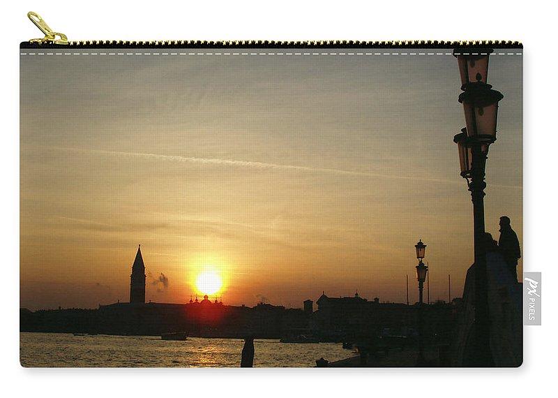 Sundown In Venice Carry-all Pouch featuring the photograph Sundown In Venice by Ellen Henneke