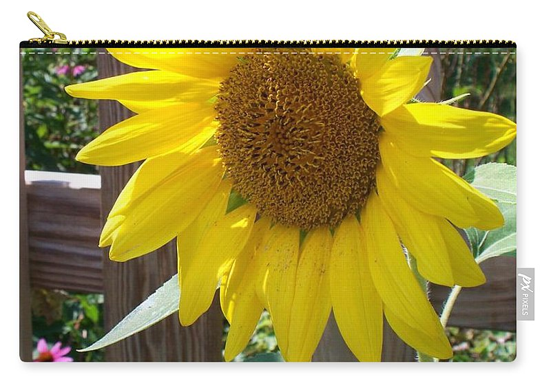 Sunflower Carry-all Pouch featuring the photograph Sunflower 1 by Eric Schiabor