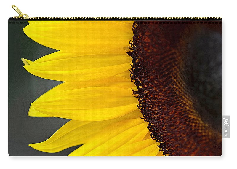 Sunflower Carry-all Pouch featuring the photograph Sunflower Beauty by Sandi OReilly