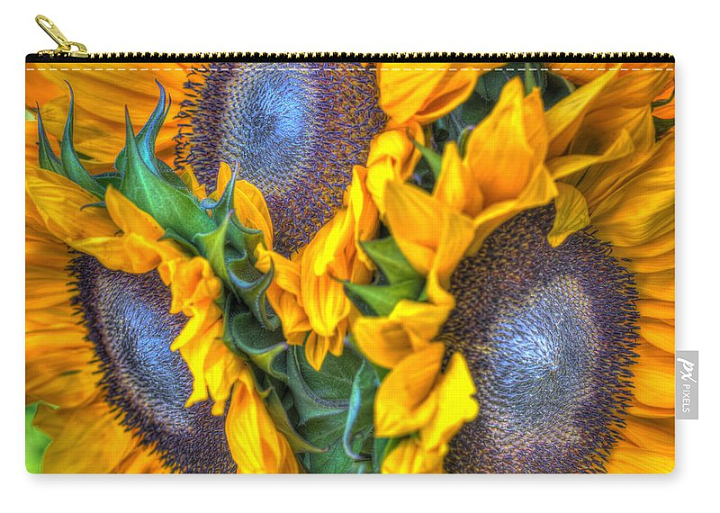 Carry-all Pouch featuring the photograph Sunflower Delight by Heidi Smith