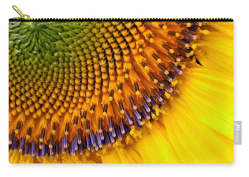 Flower Carry-all Pouch featuring the photograph Sunflower by Jean Noren