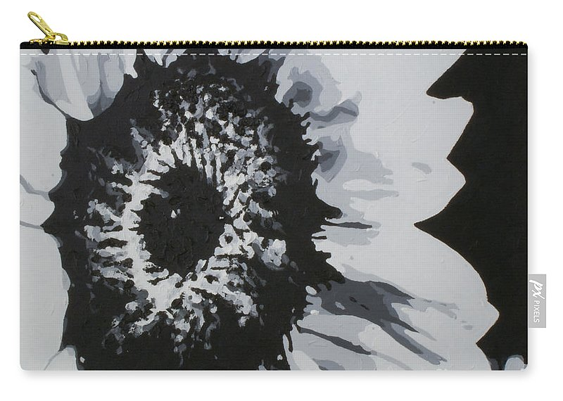 Sunflower Carry-all Pouch featuring the painting Sunflower by Katharina Filus
