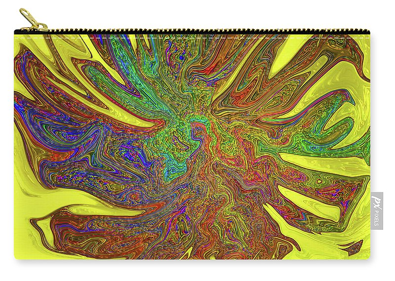 Abstract Carry-all Pouch featuring the photograph Sunflower by Kathy Moll