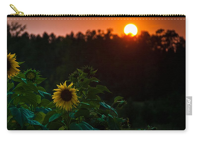 Landscapes Carry-all Pouch featuring the photograph Sunflower Sunset by Cheryl Baxter