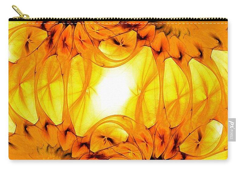 Malakhova Carry-all Pouch featuring the digital art Sunflowers by Anastasiya Malakhova