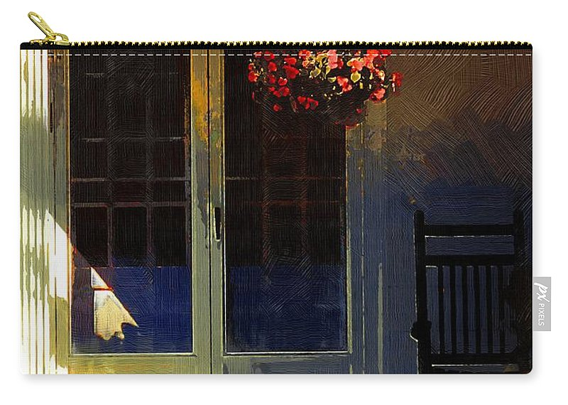 House Carry-all Pouch featuring the painting Sunlight On Scarlet - New England Autumn by RC DeWinter