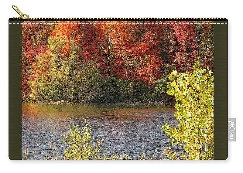Autumn Carry-all Pouch featuring the photograph Sunlit Autumn by Ann Horn