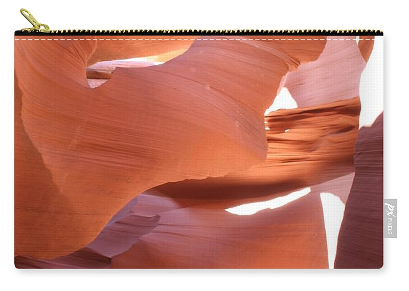 Canyon Carry-all Pouch featuring the photograph Sunlit Canyon by Christiane Schulze Art And Photography