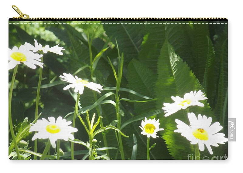 Flowers Carry-all Pouch featuring the photograph Sunning Ourselves by Jennifer Lavigne